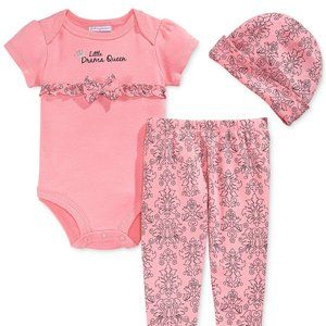 9 Months Drama Queen Outfit Floral with Bow